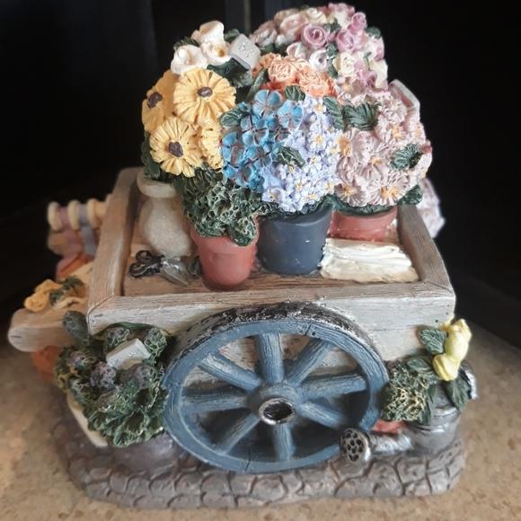 Charming miniature resin wheelbarrow box